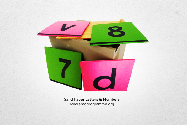 Sand Paper Letters & Numbers